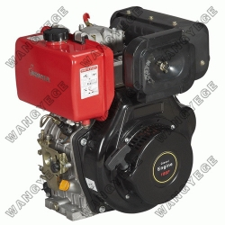 4-stroke Diesel Engine with 9.0HP Single Cylinder and Optional Electric Starter
