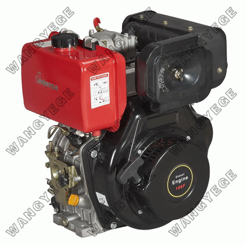 4-Stroke Single Cylinder Diesel Engine with 9HP Power and Recoil/Electric Starting Modes