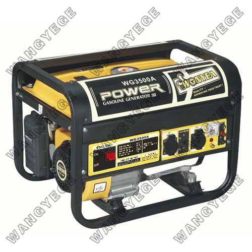 Gasoline Generator, Large Muffler for Quiet Operation, Standard Configuration