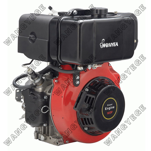 Recoil/Electric Starter Diesel Engine with 4-Stroke Single Cylinder and 11HP Power